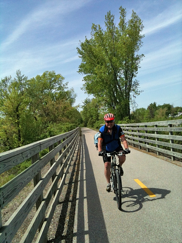 Mark Biking in Madison County