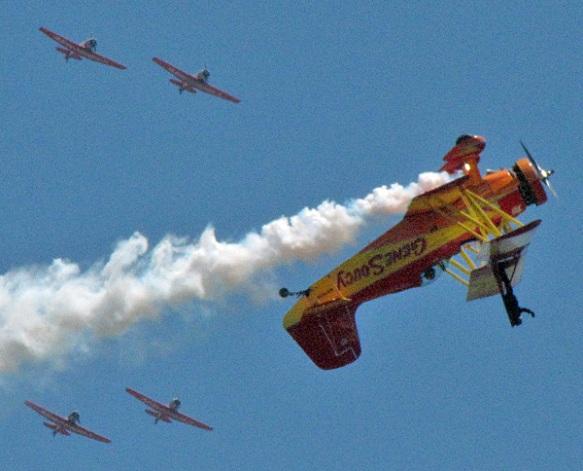 Gene Soucy - Mister Air Show + Wing Walker + Aeroshell Team