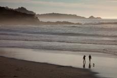 Carmel Beach Silhouette