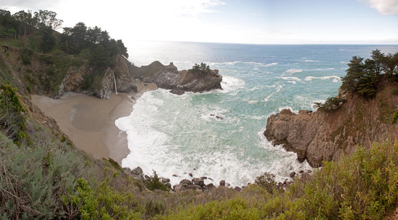 Julia Pfeiffer Burns State Park Waterfall Pano