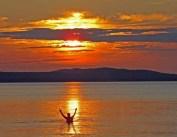 Swimmer's Sunset - August