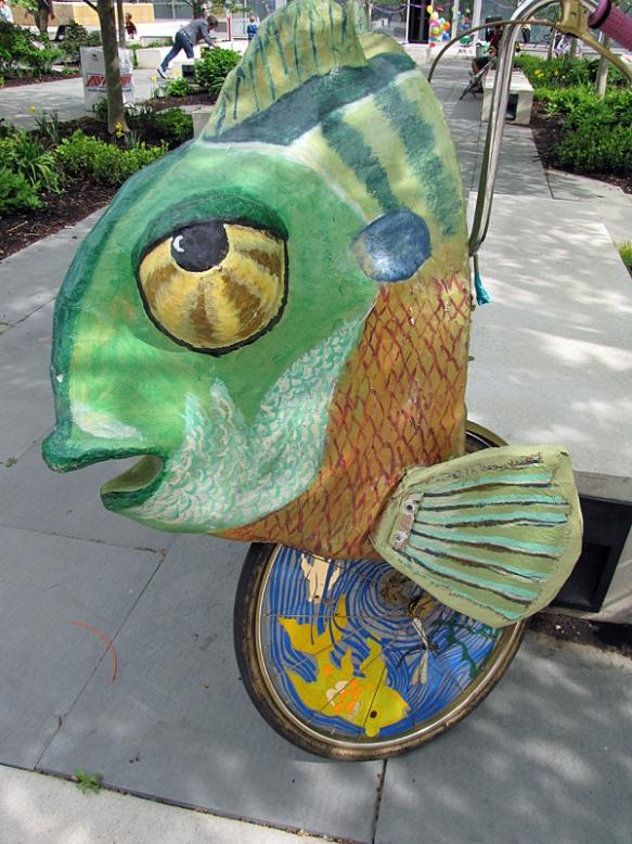 A woman needs a man like a fish needs a bicycle
