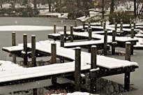 Japanese Snow Covered Walkway
