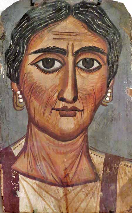 Portrait of a Woman, Roman, Imperial period, 2nd century, gouache on wood