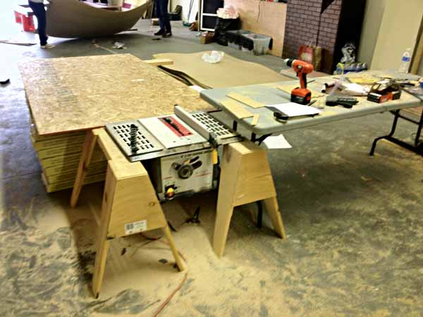 The Questionably Safe Table Saw Setup And Out Feed Table He Devised 4 Days And No Injuries From