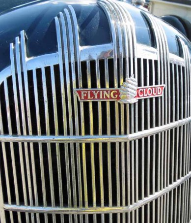 Front Grill of a 1936 REO Flying Cloud