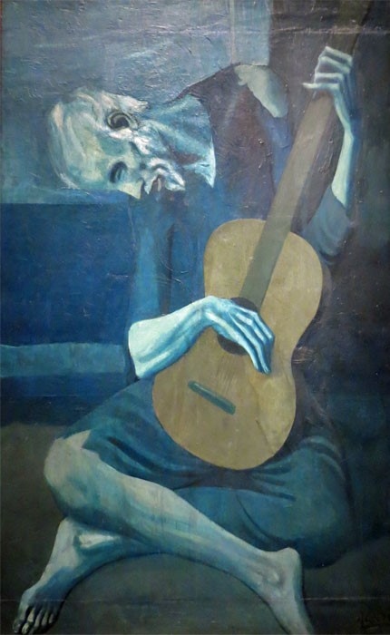 the old guitarist pablo picasso Analysis : pablo picasso the old guitarist (1903) blue period  .