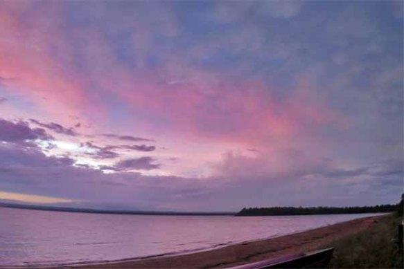 Pink Cabin Sunset