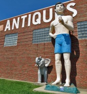 Antiques, an Elephant and a Really Big Boy with a Twistee Treat