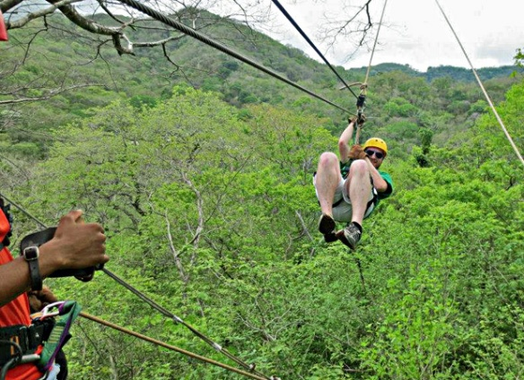 Dave on a Costa Rican Zipline