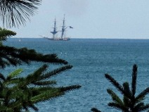 Tall Ship Upbound on Superior
