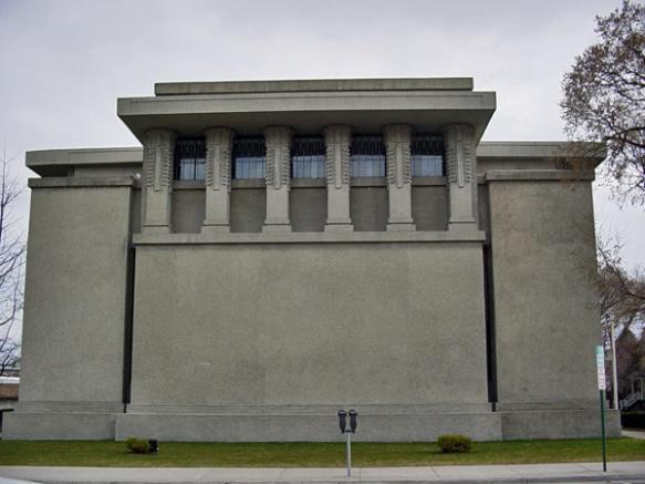 Unity Temple, a Unitarian Universalist church in Oak Park, IL