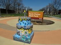 Ruth Porter Mall Park on Delmar at DeBaliviere