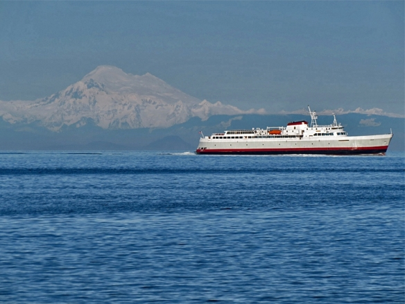 Washington State Ferry and Mount Baker