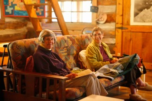 Bubs and Anne in the Cabin