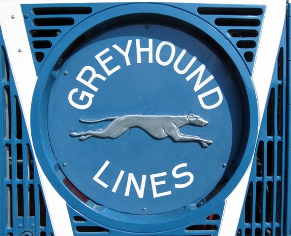 Rear Emblem on the 1937 Greyhound Super Coach