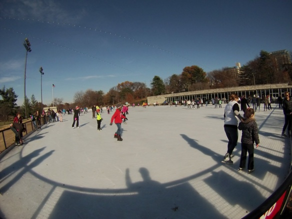 Ice Skaters at Steinberg Ice Rink
