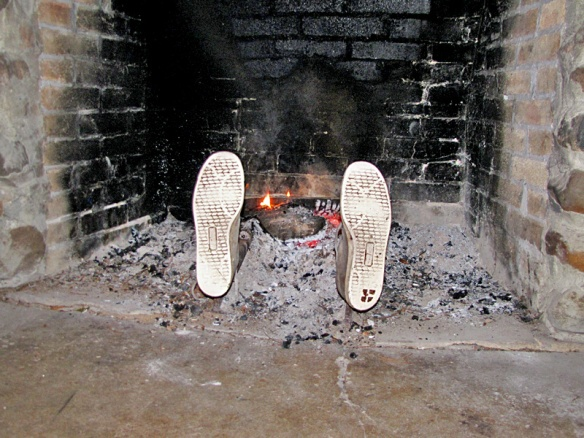 Don't Fall In The Fireplace!