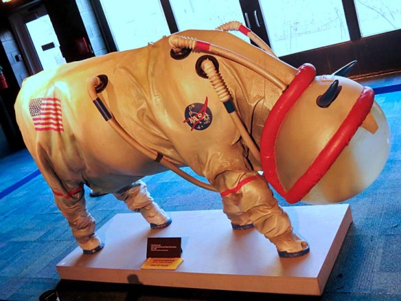 MOOOOONWALK, part of Cows on Parade, by Craig Wartman