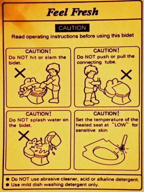 Toilet's Safety Instructions