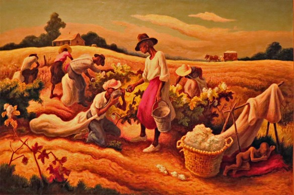 Cotton Pickers, Thomas Hart Benton, 1945