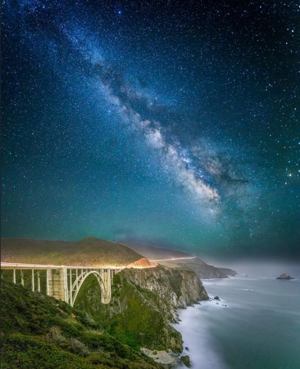 Bixby Bridge by Starlight - Big Sur, CA