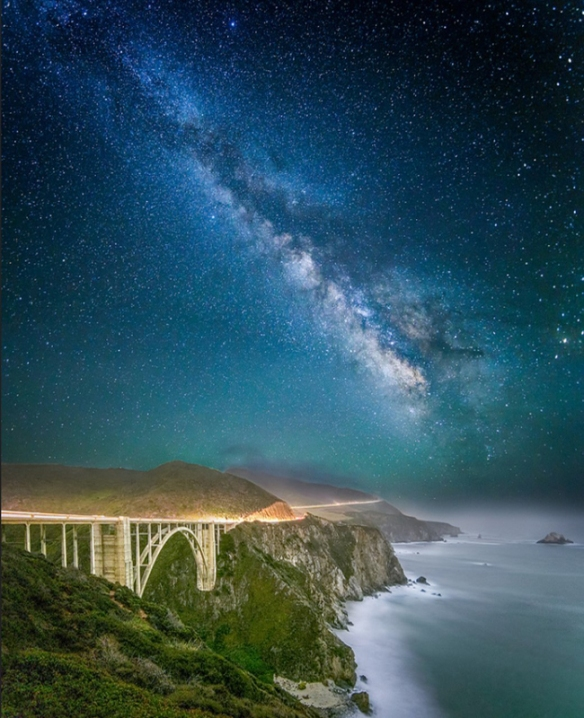 Bixby Bridge by Starlight - Big Sur, CA