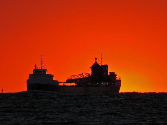 Michipicoten Downbound at Sunset