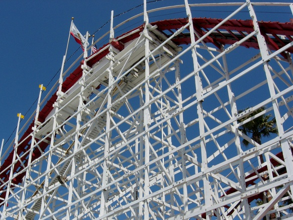 Santa Cruz Wooden Rollercoaster