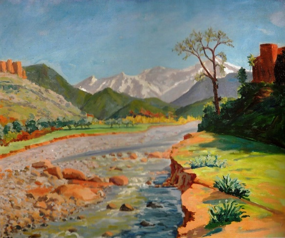 Valley of the Ourika and Atlas Mountains, Winston Churchill, 1948