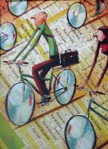 Montreal Bicycling Poster