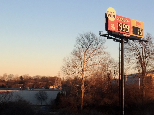 999 - Someone Broke the Powerball Sign