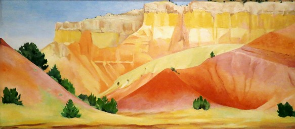Ghost Ranch Cliffs, Georgia O'Keeffe, 1940-42