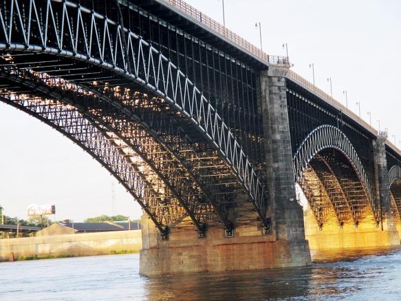 Eads Bridge at Sunset
