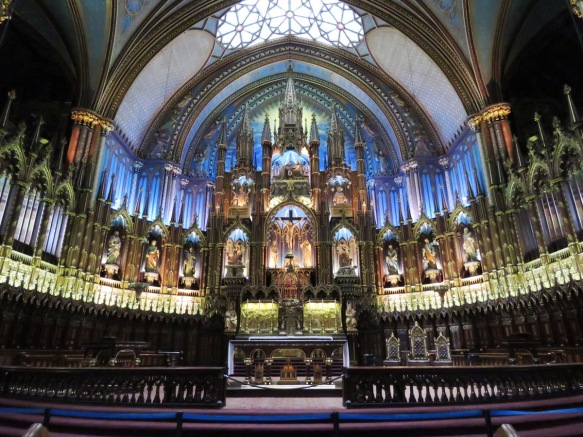 Montreal's Notre Dame Cathedral - Interior