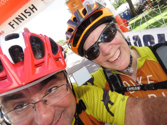 After Crossing the Finish Line Happiness Ensues