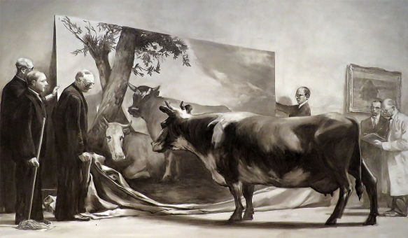 The Innocent Eye Test, Mark Tansey, 1981