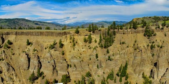 Basalt Columns at The Narrows of Yellowstone Canyon