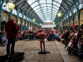 British Busker and Rube at Covent Garden Market