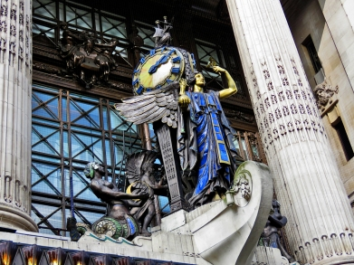 Clock Above Main Entrance to Selfridge Department Store