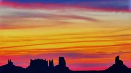 Desert Sunrise Over Monument Valley
