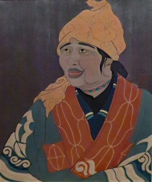 Old Ainu Woman, Paul Jacoulet, 1950
