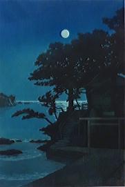 Kakizaki Benten Shrine in Shimoda, Kawase Hasui, 1937
