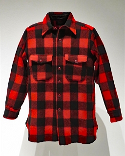 Red Plaid Flannel Shirt, Woolrich, 1940s