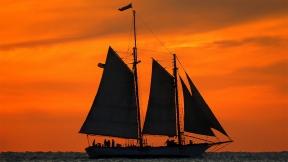 Key West Schooner Sunset