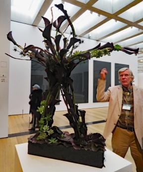 Bob Hauck and His Floral Arrangement