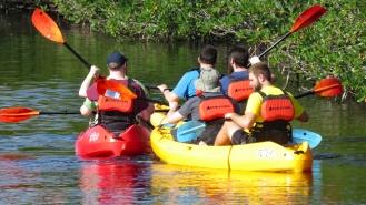 Kayaking in Crocodile Waters